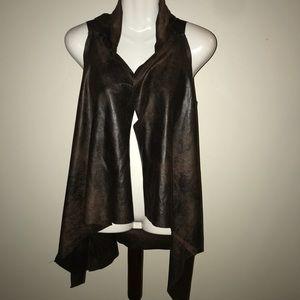Jackets & Blazers - Italian made leather vest